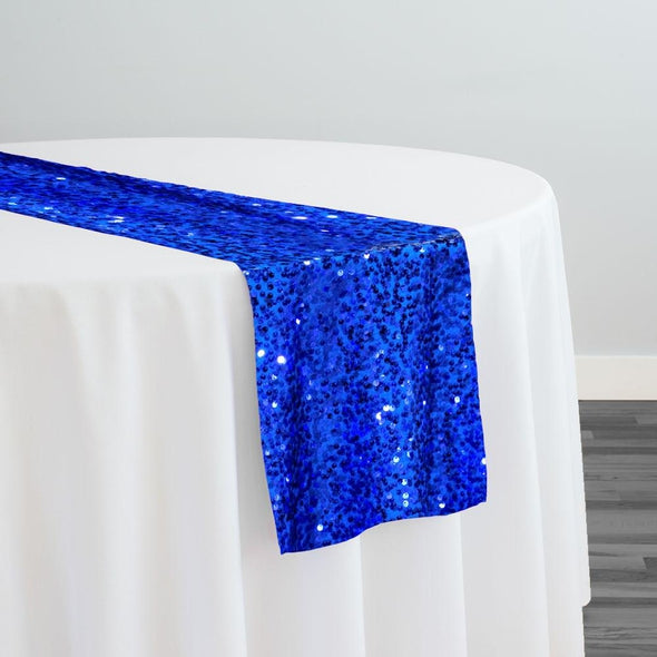 Taffeta Sequins Table Runner in Royal