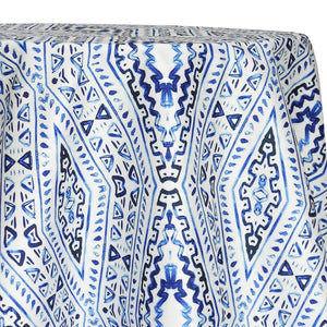 Aztec Print (Dupioni) Table Linen in Royal