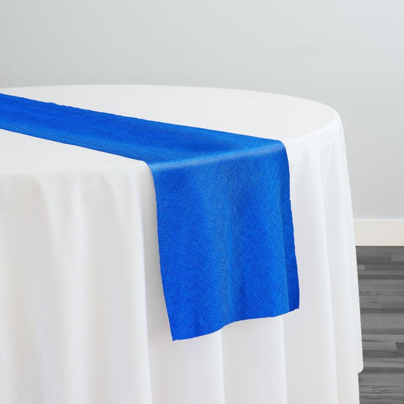 Imitation Burlap (100% Polyester) Table Runner in Royal