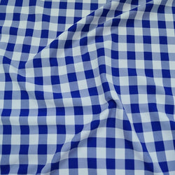 Polyester Checker (Gingham) Table Linen in Royal