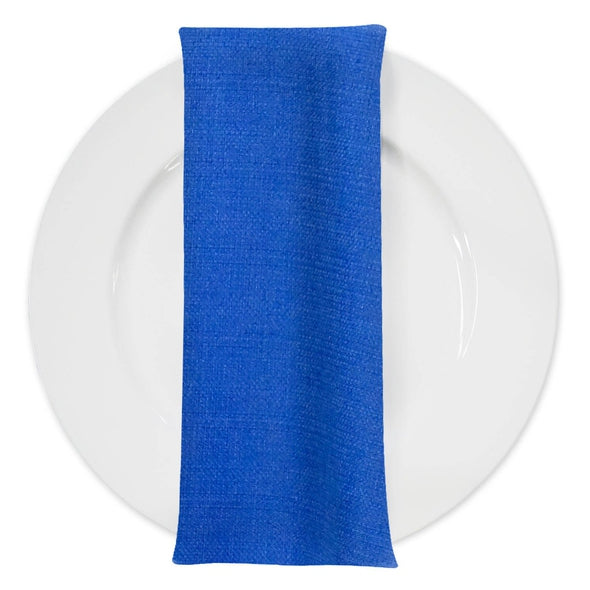 Rustic Linen Table Napkin in Royal
