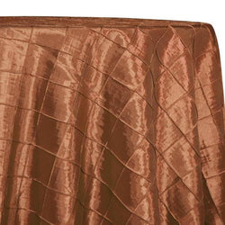 "2"" Pintuck Taffeta Table Linens in Rust 033"