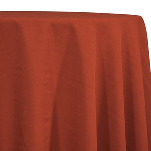 Rust Tablecloth in Polyester for Weddings