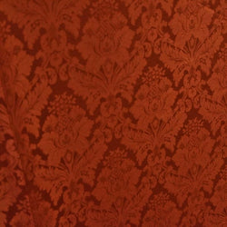 Damask Poly Table Linen in Rust 1351