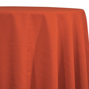 Burnt Orange Tablecloth in Polyester for Weddings