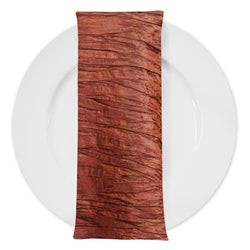 Accordion Taffeta Table Napkin in Rust