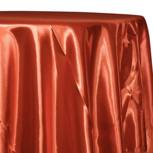 Bridal Satin Table Linen in Rust 375