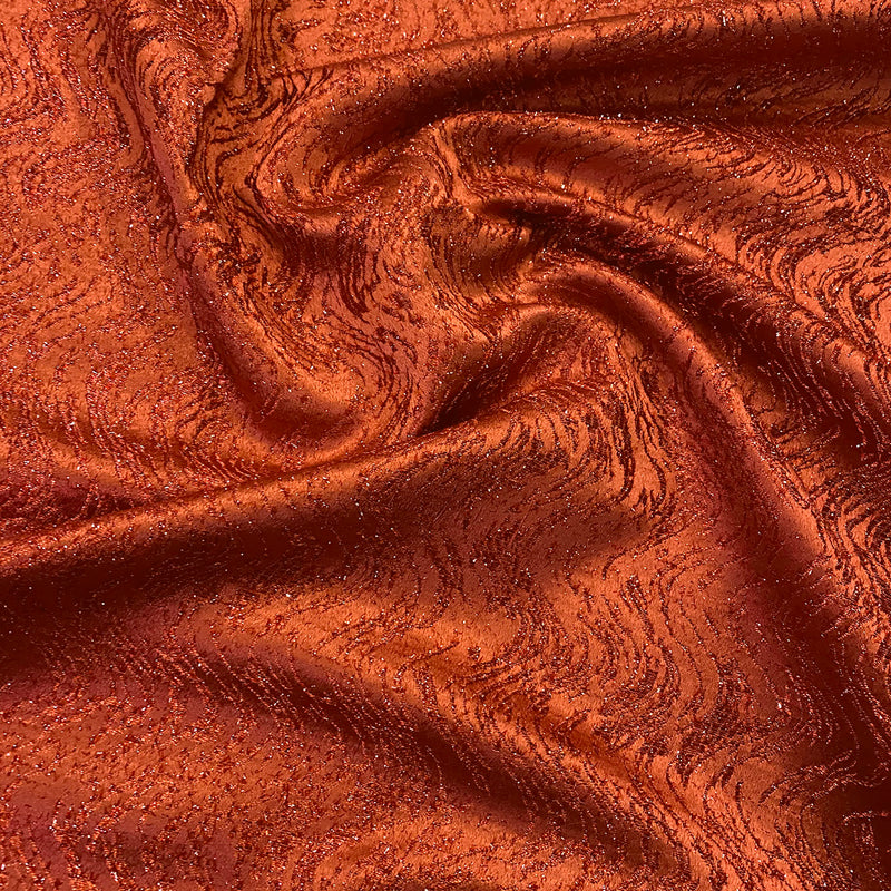 Twinkle Tensil Hair Wholesale Fabric in Rust