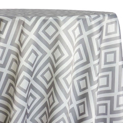 Paragon Print (Lamour) Table Linen in Silver