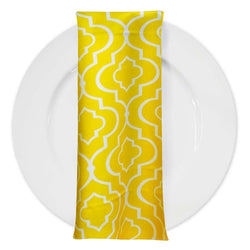 Gatsby Print (Lamour) Table Napkin in Yellow