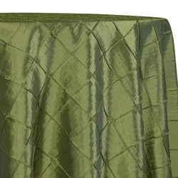 "2"" Pintuck Taffeta Table Linens in Sage 022"