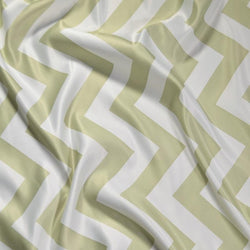 Chevron Print (Lamour) Table Runner in Sage and White