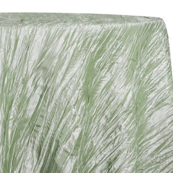 Accordion Taffeta Table Linen in Sage 103