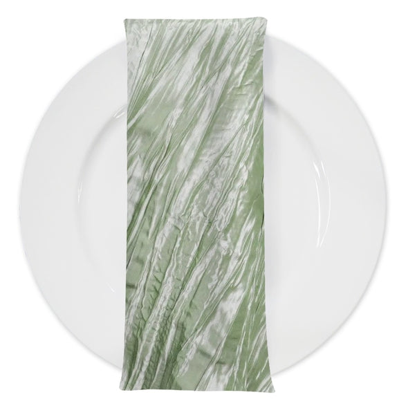 Accordion Taffeta Table Napkin in Sage 103
