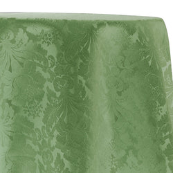 Damask Poly Table Linen in Sage 1152