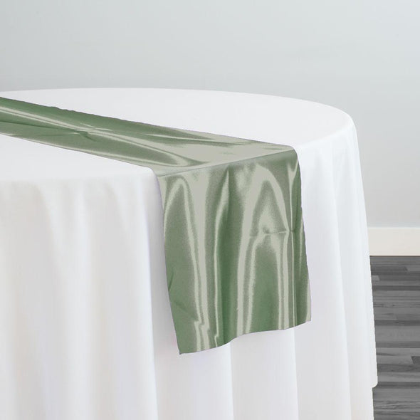 Bridal Satin Table Runner in Sage 378