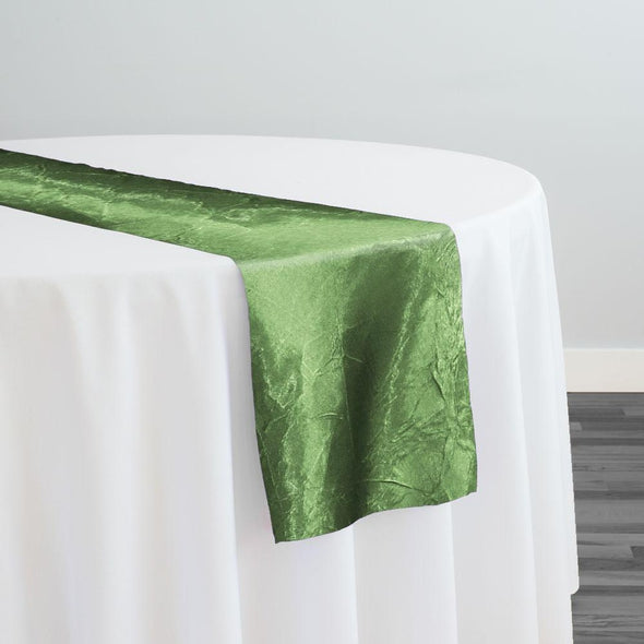 Crush Satin (Bichon) Table Runner in Sage D 377