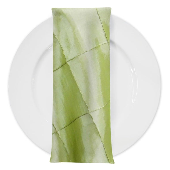 "4"" Pintuck Taffeta Table Napkin in Sage 103"