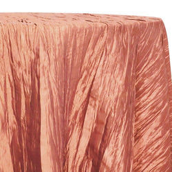 Accordion Taffeta Table Linen in Salmon