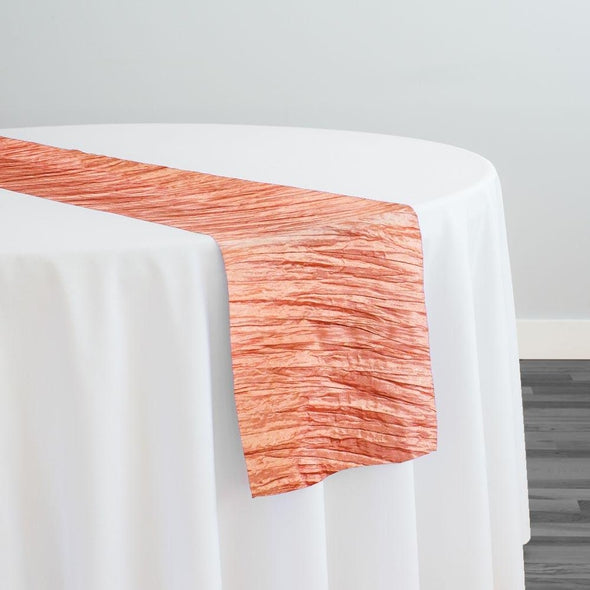 Accordion Taffeta Table Runner in Salmon