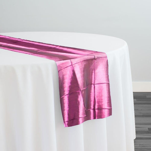 "4"" Pintuck Taffeta Table Runner in Sangria 046"