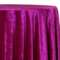 Lush Velvet Table Linen in Sangria