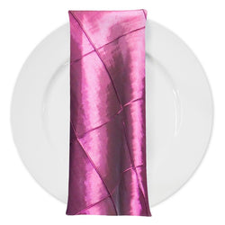 "4"" Pintuck Taffeta Table Napkin in Sangria 046"