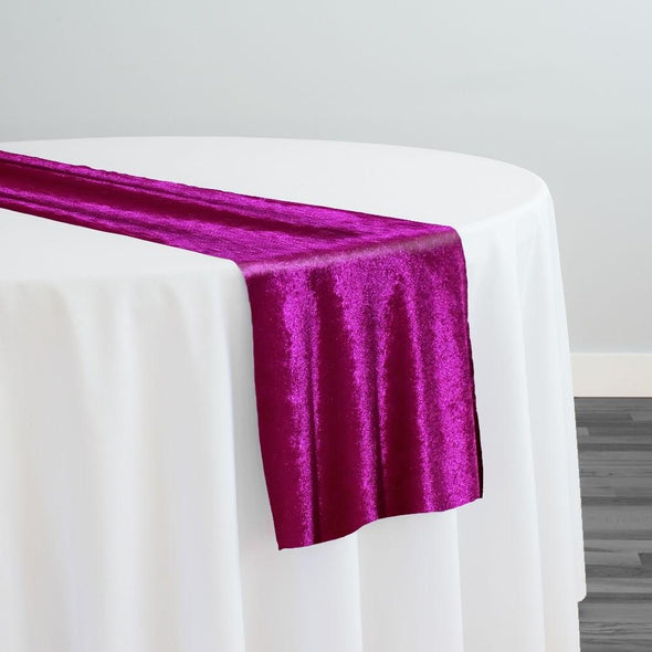 Lush Velvet Table Runner in Sangria