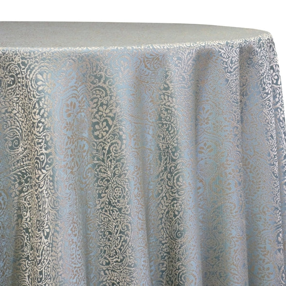 Miramar Jacquard Table Linen in Seafoam