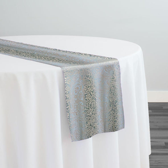Miramar Jacquard Table Runner in Seafoam