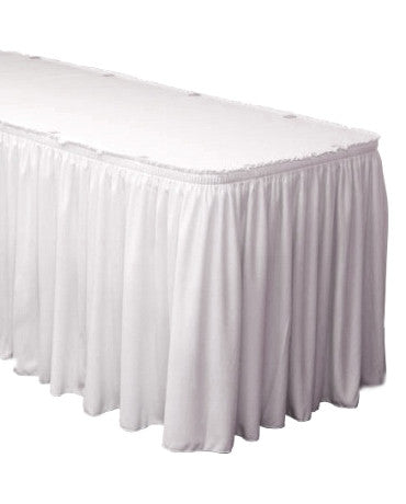 Polyester Table Shirred Pleat Velcro