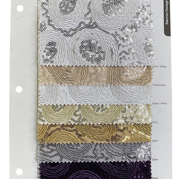 Sienna Design Table Runner in White