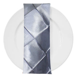 "4"" Pintuck Taffeta Table Napkin in Silver 097"