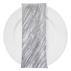 Accordion Taffeta Table Napkin in Silver 097
