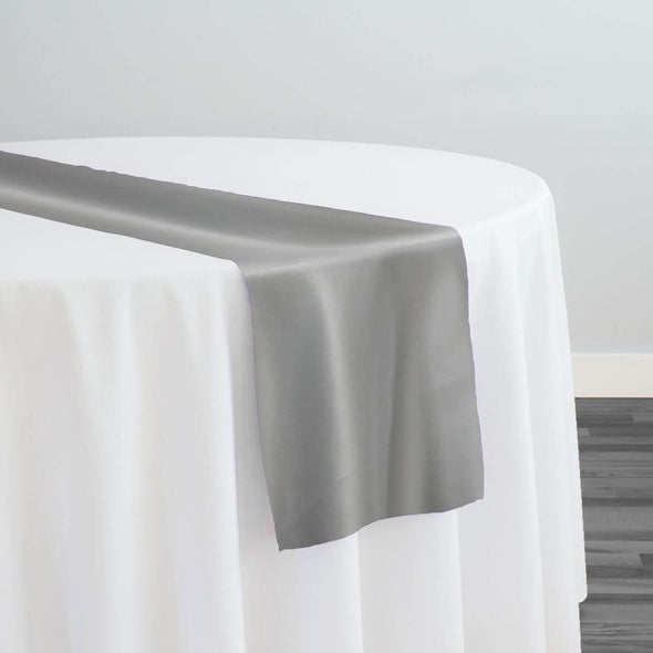 Lamour (Dull) Satin Table Runner in Silver 1301