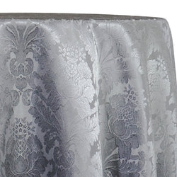 Damask Poly Table Linen in Silver 1310