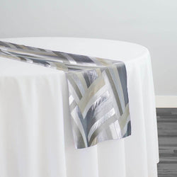 Broadway Jacquard (Reversible) Table Runner in Silver