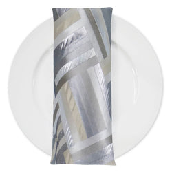 Broadway (Double-Sided) Table Napkin in Silver