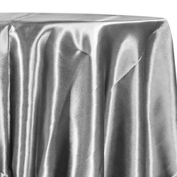 Bridal Satin Table Linen in Silver 606