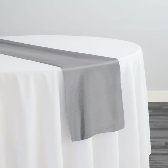 Crystal Organza Table Runner in Silver 922