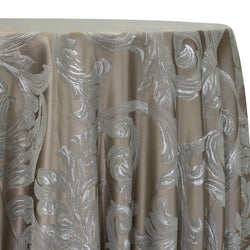 Florence Jacquard Table Linen in Silver and Grey