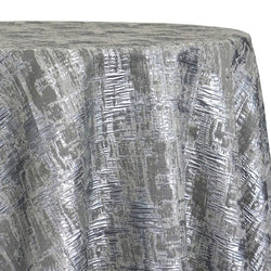 Calypso Jacquard (Reversible) Table Linen in Silver