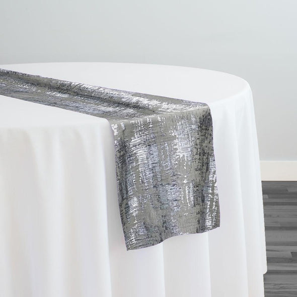 Calypso Jacquard (Reversible) Table Runner in Silver