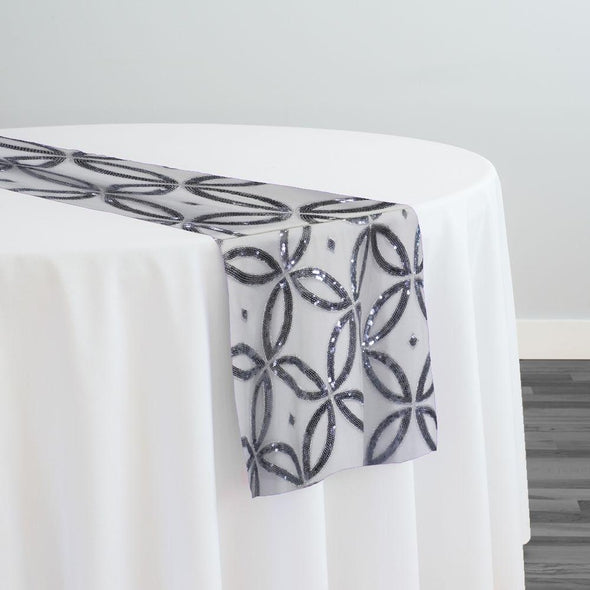 Delano Sequins Table Runner in Silver