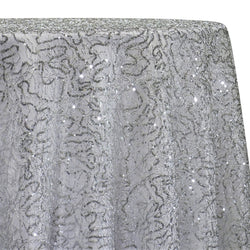Bedazzle Table Linen in Silver and White