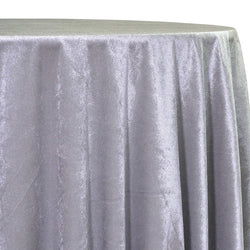 Lush Velvet Table Linen in Silver
