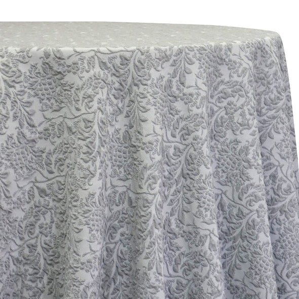 Lucia Jacquard Table Linen in Silver