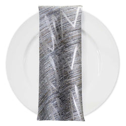 Zion Jacquard Table Napkin in Silver