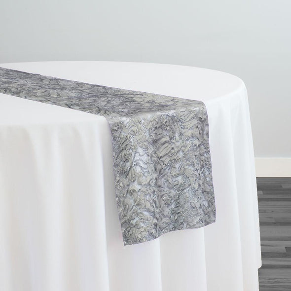 Patina Sheer Table Runner in Silver