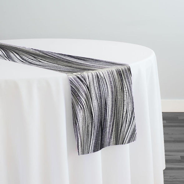 Allure Jacquard Table Runner in Silver
